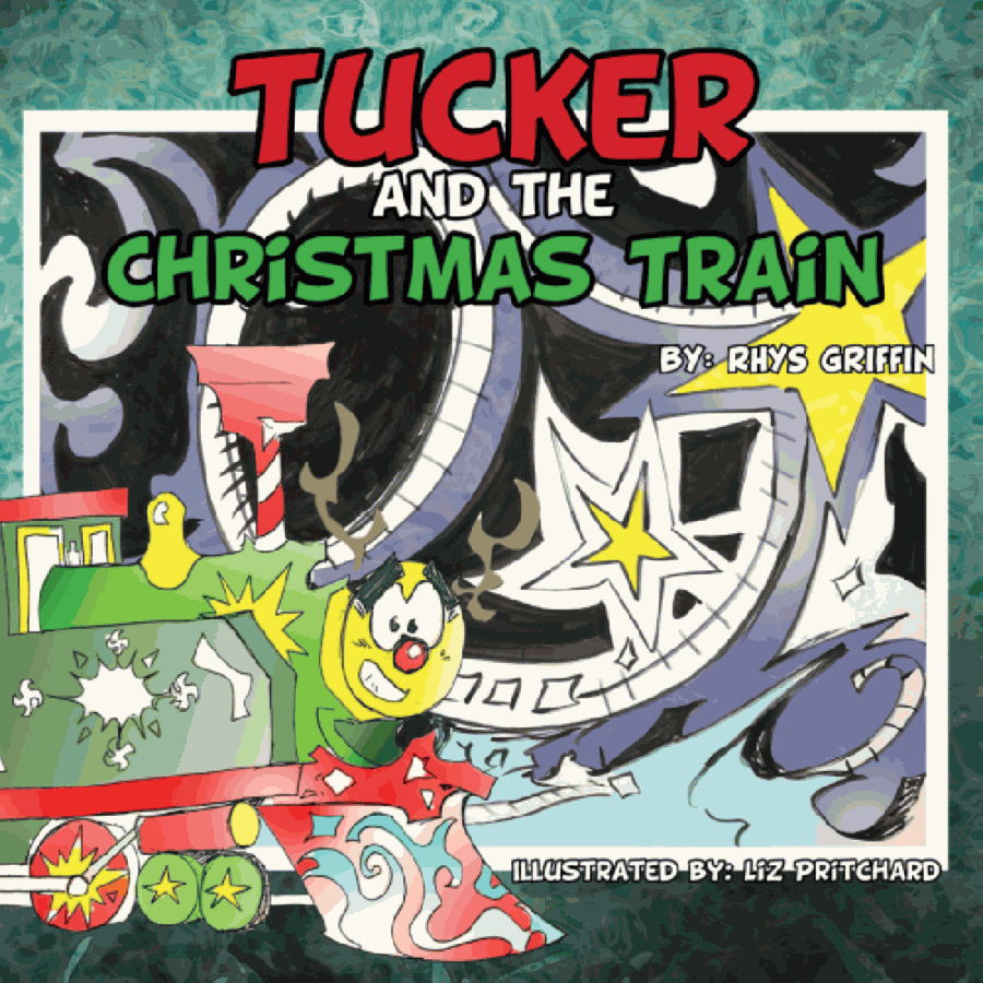 In the book, Tucker the steam engine dreams of transporting holiday goods to and from the North Pole as a Christmas train on the magical Rails of Wonder but must overcome various obstacles to achieve his goals. (Courtesy Spectrum Fusion)