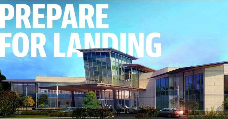 The McKinney National Airport terminal is expected to be completed by July 2021. (Rendering courtesy CaCo Architecture)