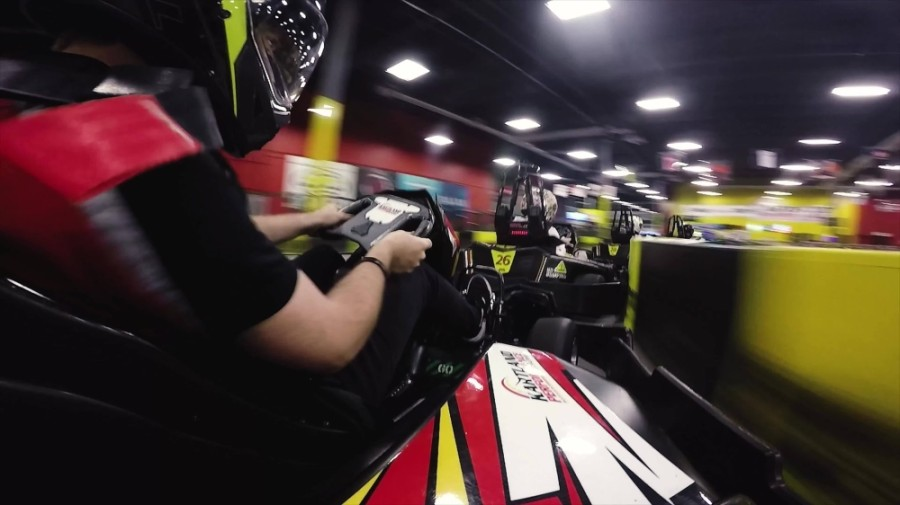 Go-karts at Kartland can reach 45 miles per hour. (Courtesy Kartland Indoor Performance Raceway)