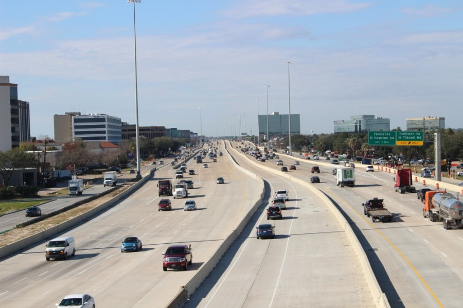 Vehicles travel on Hwy. 290 in Houston. (Shawn Arrajj/Community Impact Newspaper)