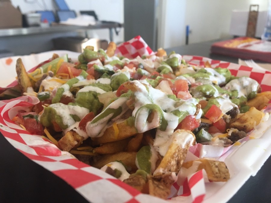 The carne asada loaded French fries are probably the most popular item on the Loaded Spudz menu, according to an owner.