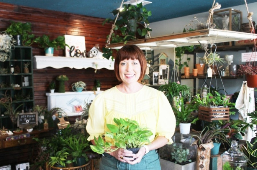 Bridget Gould opened Terrarium in February 2019. (Dylan Sherman/Community Impact Newspaper)