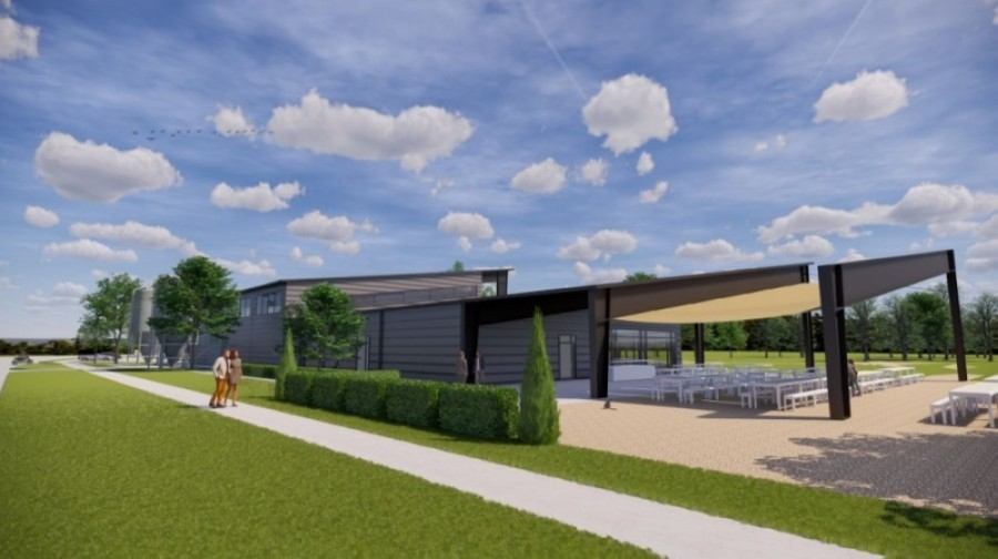 The new brewery facility in Tomball is being designed by Ziegler Cooper Architects. (Rendering courtesy Tomball Economic Development Corp.)