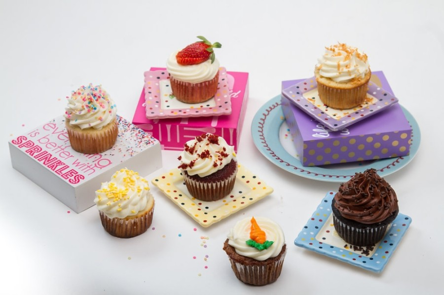 Featured flavors at Suga's Cakery include southern red velvet, spiced carrot cake, strawberry de la creme and guiltless chocolate, among others. (Courtesy Suga's Cakery)