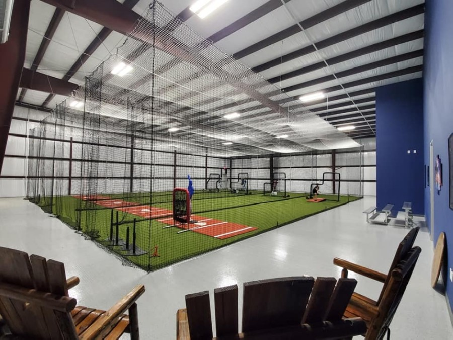 The new batting cages opened Dec. 12. (Courtesy Swing Away)