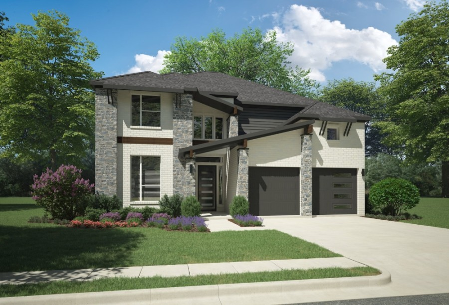 This rendering of the Van Gogh home in the Edgewood community includes 4 bedrooms and 3.5 bathrooms. (Rendering courtesy Trophy Signature Homes)