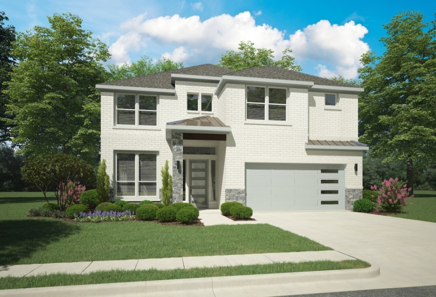 This rendering of the Kahlo home in Edgestone includes 5 bedrooms and 4 bathrooms. (Rendering courtesy Trophy Signature Homes)