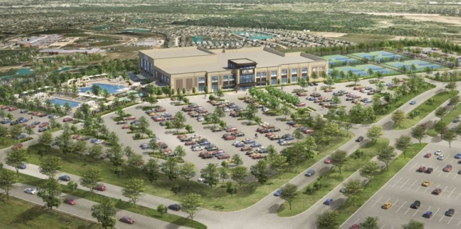 This rendering of the Fort Worth Life Time location is similar to what is coming to Frisco. (Rendering courtesy Life Time)