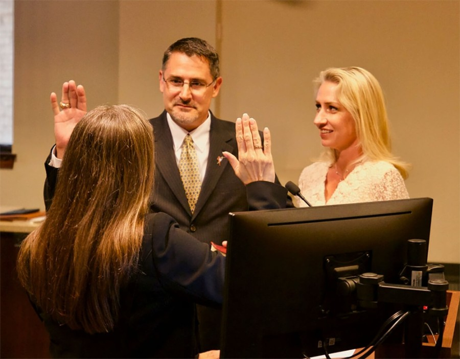 Matt Baker was sworn into Place 3 on Round Rock City Council in May 2018. (Courtesy city of Round Rock)