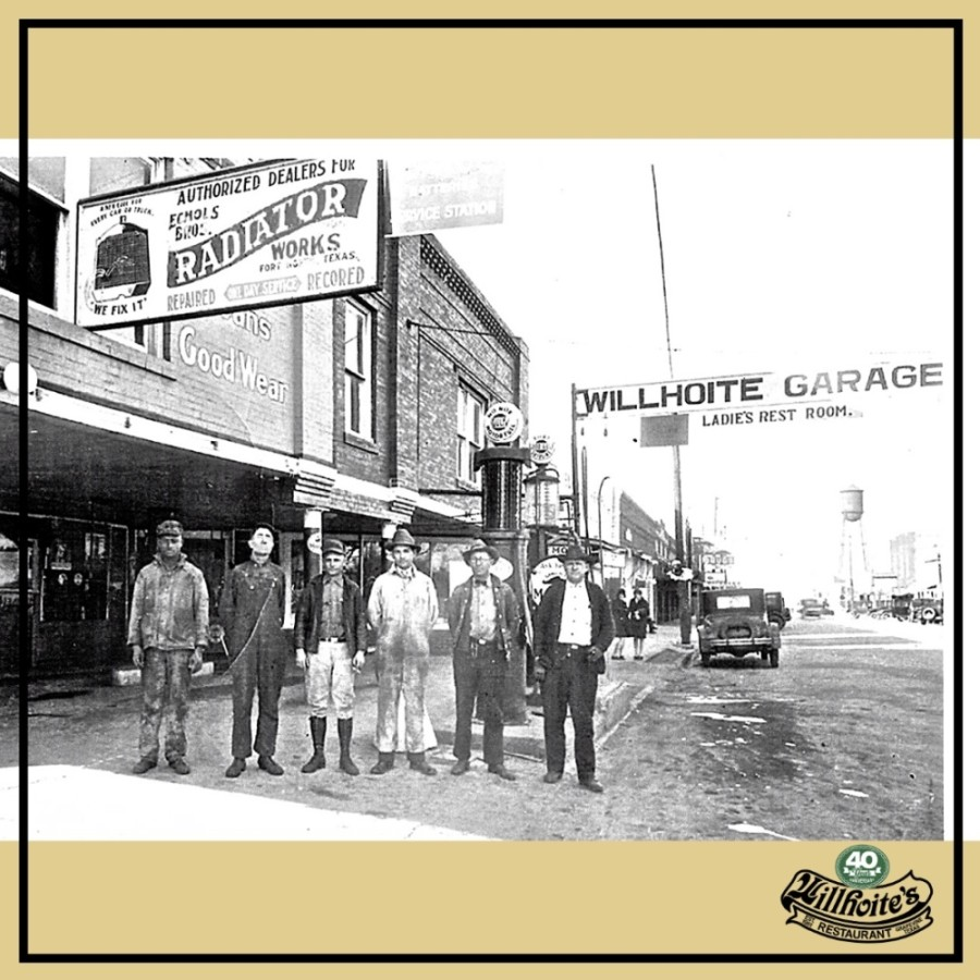 Willhoite's is housed in a 1914 building that served as a dry goods store, a theater and Grapevine's first automotive garage. (Courtesy Willhoite's Restaurant)