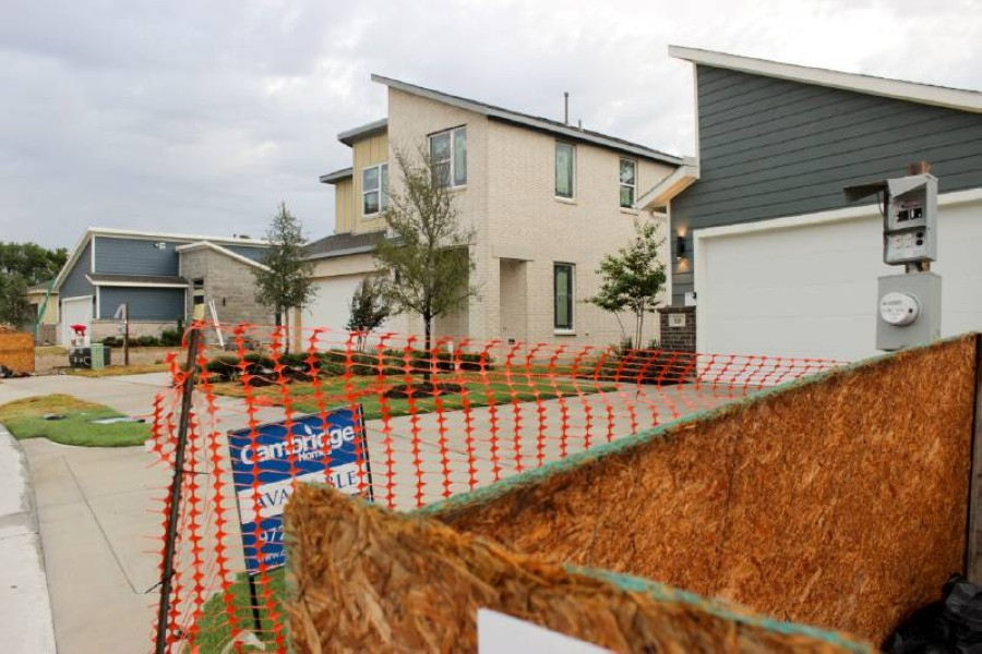 Homes were under construction in 2018 at Heritage Creekside in Plano. (Daniel Houston/Community Impact Newspaper)