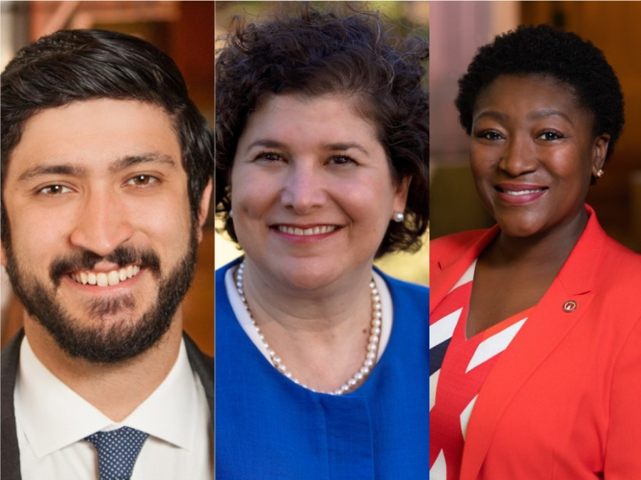 From left: Council Members Greg Casar, Alison Alter and Natasha Harper-Madison have each expressed interest in becoming Austin's next mayor pro tem. (Courtesy City of Austin, Alison Alter Campaign/Community Impact Newspaper)