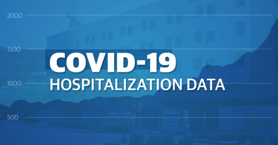 "Graphic that reads ""COVID-19 Hospitalization Data"""
