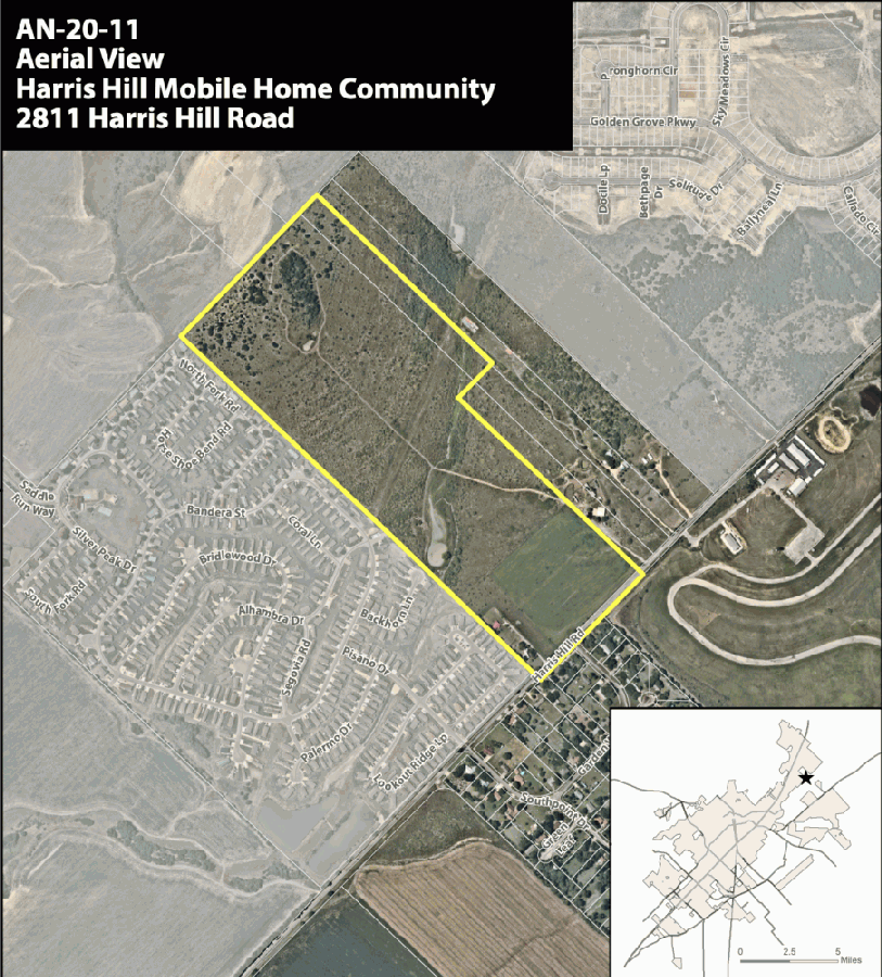 The applicant intended to build a manufactured home community near Whisper North, Saddlebrook and Harris HIll Raceway. (Courtesy city of San Marcos)