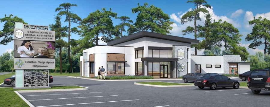Consultants in Dental Aesthetics relocated from 9720 Cypresswood Drive, Ste. 200, Houston, to its new building at 9700 Louetta Road, Spring, on Jan. 18. (Rendering courtesy Consultants in Dental Aesthetics)