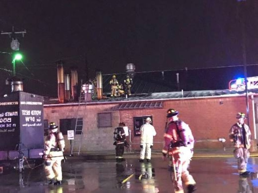 The McKinney Fire Department responded Dec. 31 to a structure fire at Hutchins BBQ. (Courtesy McKinney Fire Department)