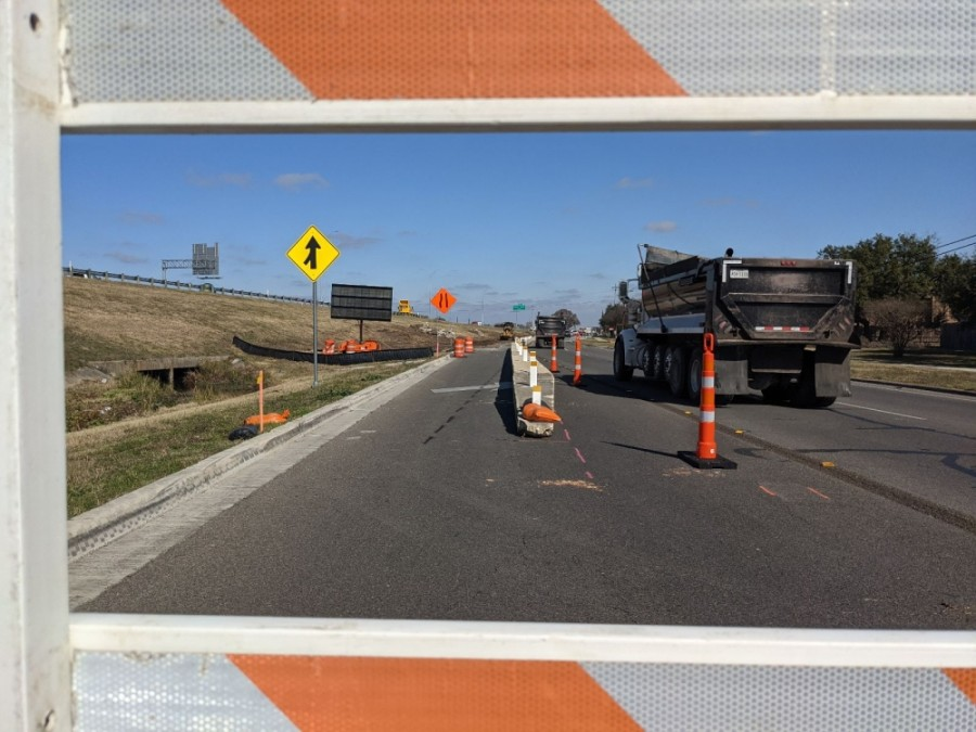 Construction began this week for improvements at I-35 and River Ridge Parkway. (Warren Brown/Community Impact Newspaper)