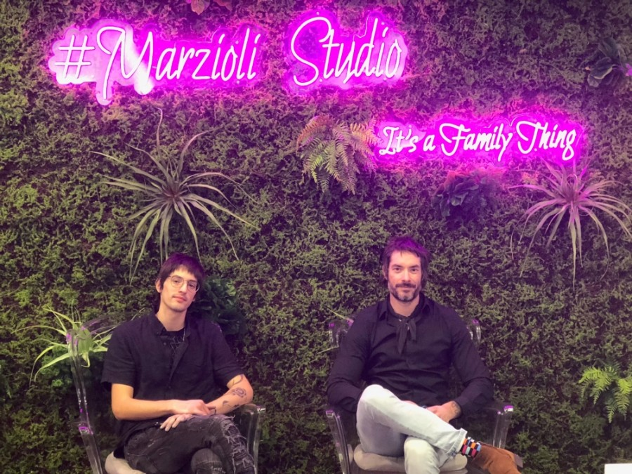 Josiah Marzioli (left) and Joesph Marzioli (right) pose at the newly opened Marzioli Studio. (Courtesy Giant Noise Public Relations)