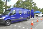 Curative mobile testing clinics are stationed at sites in the Houston, Austin and Dallas metropolitan areas, including in The Woodlands. (Courtesy The Woodlands Township)
