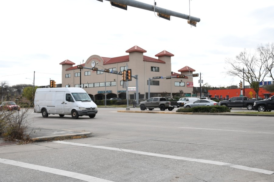 The intersection of Hillcroft Avenue, Westward Street, and High Star Drive. Vision Zero improvements will target safety and access management through the intersection. (Hunter Marrow/Community Impact Newspaper)
