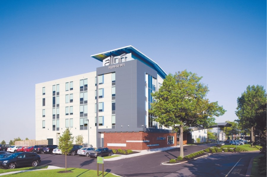 Aloft Shenandoah Houston features 116 loft-style guest rooms. (Courtesy Aloft Hotels)