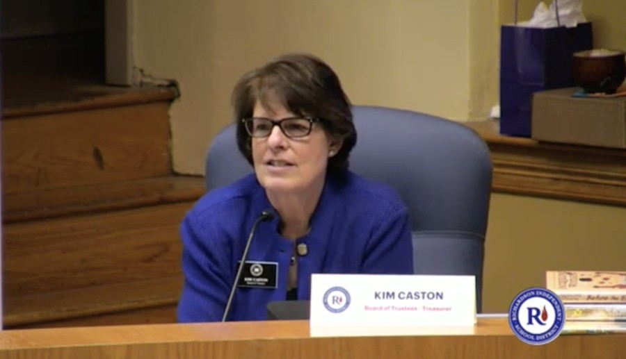 Trustee Kim Caston announced Jan. 11 she will not seek re-election to the Richardson ISD board of trustees. (Screenshot courtesy Richardson ISD)