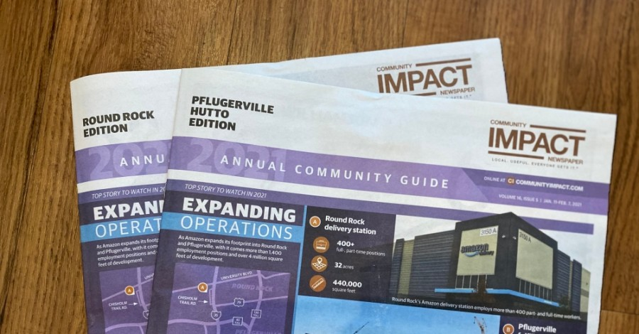 More than 116,670 mailboxes previously received the Round Rock-Pflugerville-Hutto edition. Now, the two papers are delivered to 70,534 mailboxes in Round Rock and 46,847 in Pflugerville and Hutto. (Community Impact Newspaper staff)