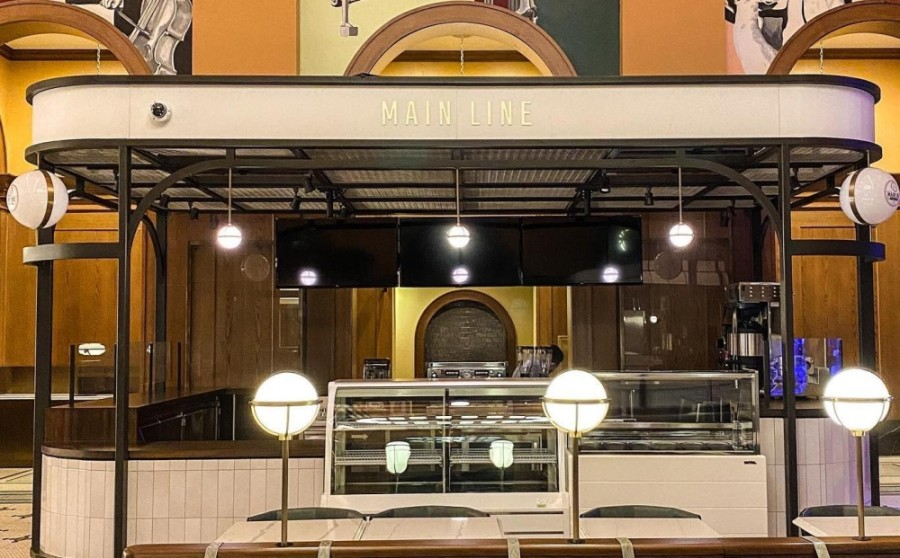 Main Line Coffee Bar will offer craft coffee drinks and locally sourced doughnuts, ice cream and pastries. (Courtesy of Harvest Hall)