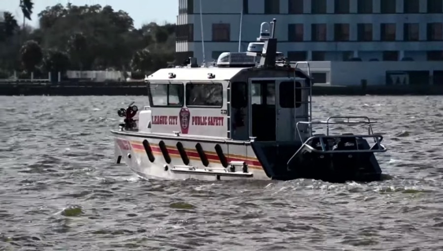 As of mid-January, the League City Volunteer Fire Department has a new all-hazards response boat. (Courtesy city of League City)