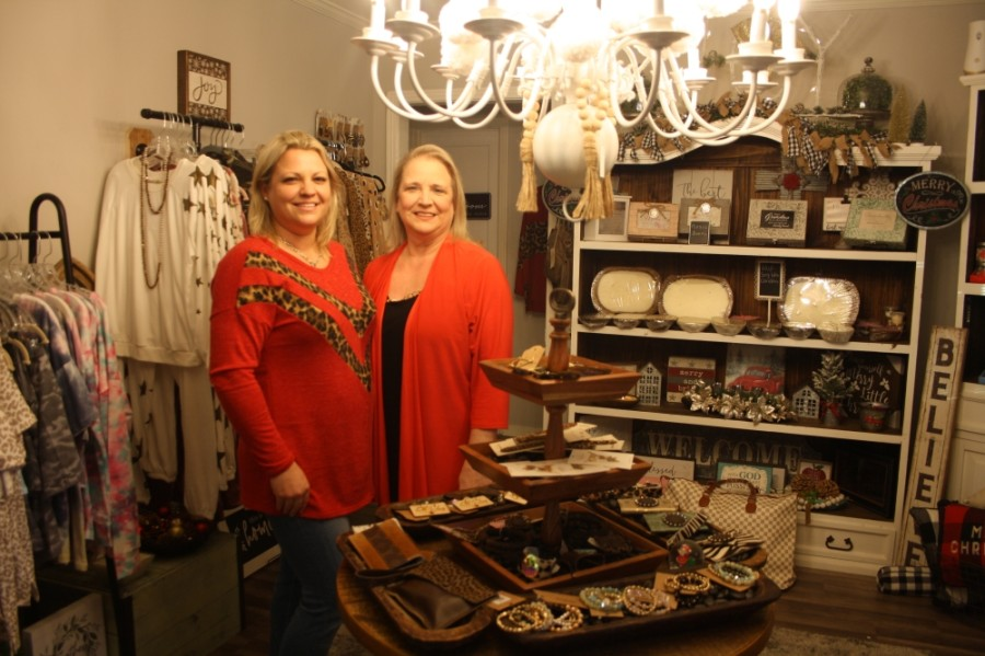 Tara Gates owns The Rustic House Boutique with her mother, Teresa Dornak. (Danica Lloyd/Community Impact Newspaper)