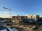 Work on Memorial Hermann The Woodlands Medical Center includes the construction of a new patient tower and parking area. (Courtesy Memorial Hermann The Woodlands Medical Center)