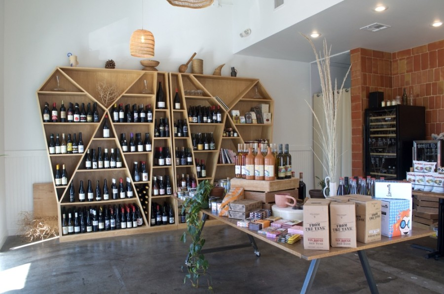 Photo of a wine shop