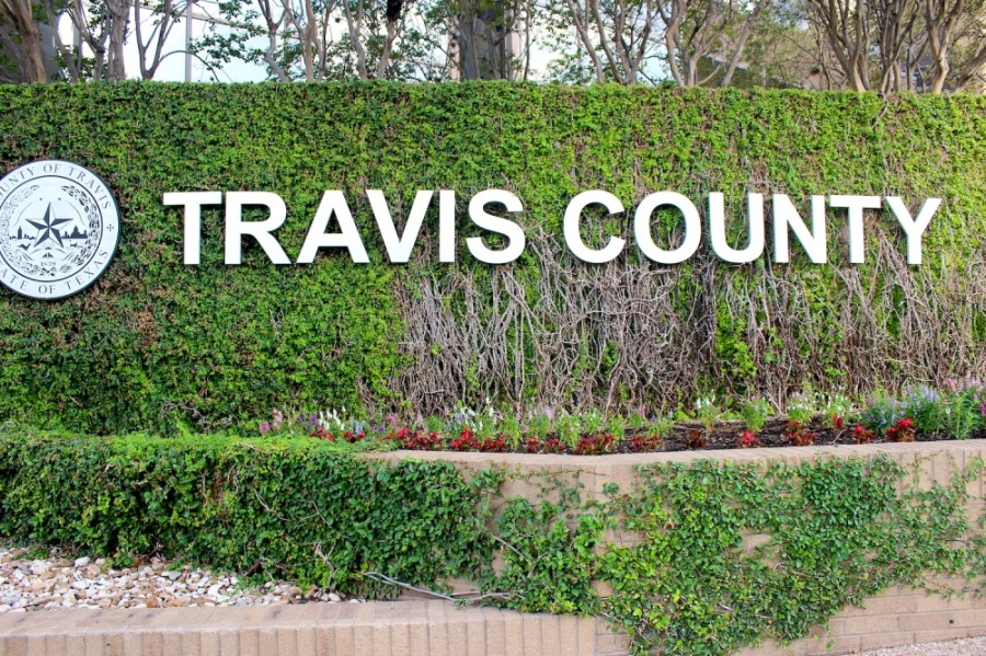 Photoo of Travis County sign