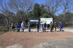 City officials broke ground at the site of the new police headquarters Jan. 14. (Courtesy city of New Braunfels)
