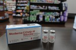 The independent pharmacy went through 500 doses of the Moderna vaccine in nine days. (Eva Vigh/Community Impact Newspaper)