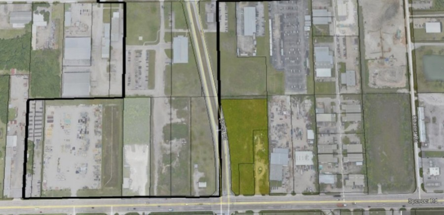 The city will annex a 4-acre tract at the northeast corner of FM 529 and Jones Road as a part of a development agreement that will bring a 7-Eleven to the site. The land at the northwest corner of the intersection is already within city limits. (Screenshot courtesy Jersey Village)