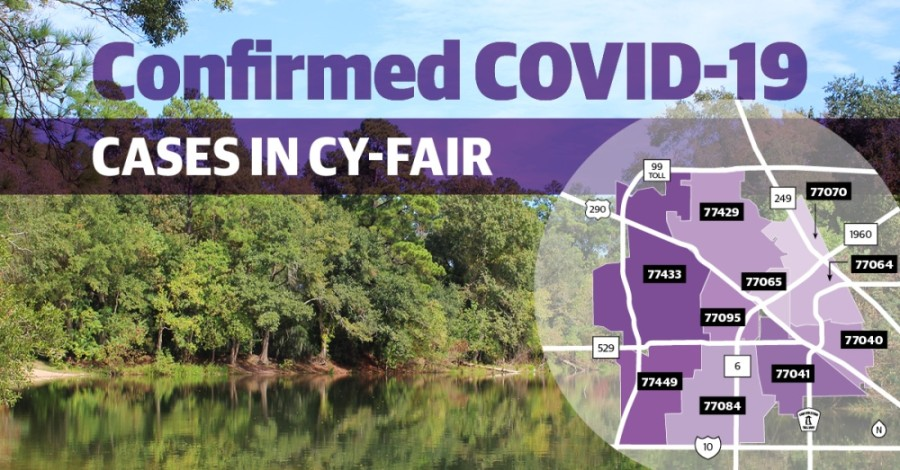Harris County continues to report more confirmed COVID-19 cases in the Cy-Fair area. (Community Impact staff)