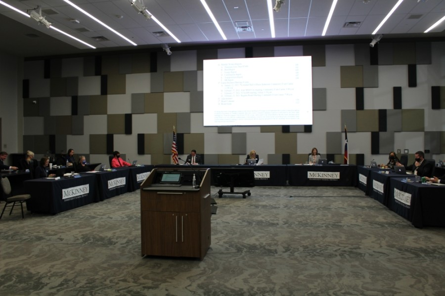 The McKinney ISD school board announced four propositions on May's ballot—including two bonds totaling $275 million. (Francesca D'Annunzio/Community Impact Newspaper)