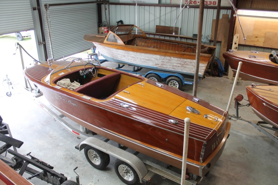 Hoyle works on as many as 10 boats at a time, with restoration projects taking anywhere from six to 12 months.