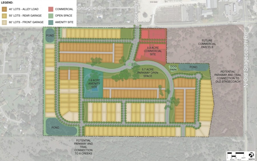 While officials on Jan. 19 said they will still need to receive a second hearing of the request to rezone the land, which should come at an upcoming meeting in February, council members expressed excitement about the project. (Screen shot courtesy city of Kyle)