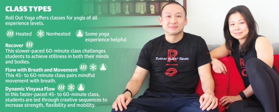 Husband and wife Michael Ngo and Jackie Sim opened Roll Out Yoga on Spring Cypress Road in June 2019. (Hannah Zedaker/Community Impact Newspaper)
