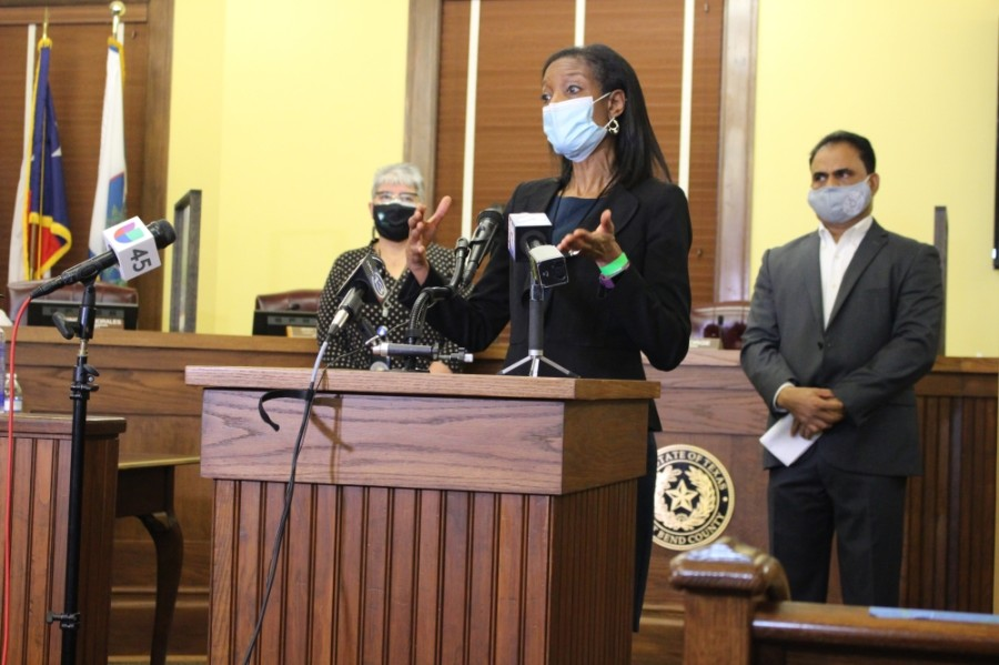 Dr. Jacquelyn Johnson-Minter, director of Fort Bend County Health & Human Services, said Jan. 21 that it has been frustrating that the supply of vaccines thus far has been unable to meet the demand. (Morgan Theophil/Community Impact Newspaper)