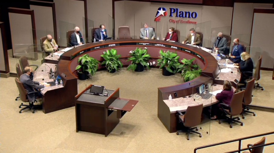Commissioners are seen at the latest Plano Planning and Zoning Commission meeting. (Screenshot via city of Plano)