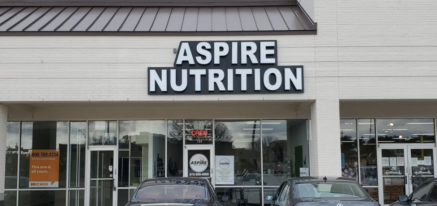 Aspire Nutrition opened Dec. 9 in Highland Village. (Community Impact staff)