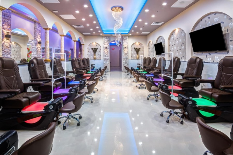 The new salon specializes in manicures and pedicures as well as waxing and facials. (Courtesy King Nails Cypress)