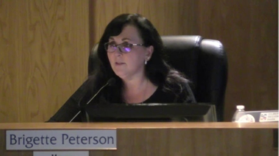 Brigette Peterson conducts her first full meeting as Gilbert mayor Jan. 19. (Screen shot from GilbertLive)