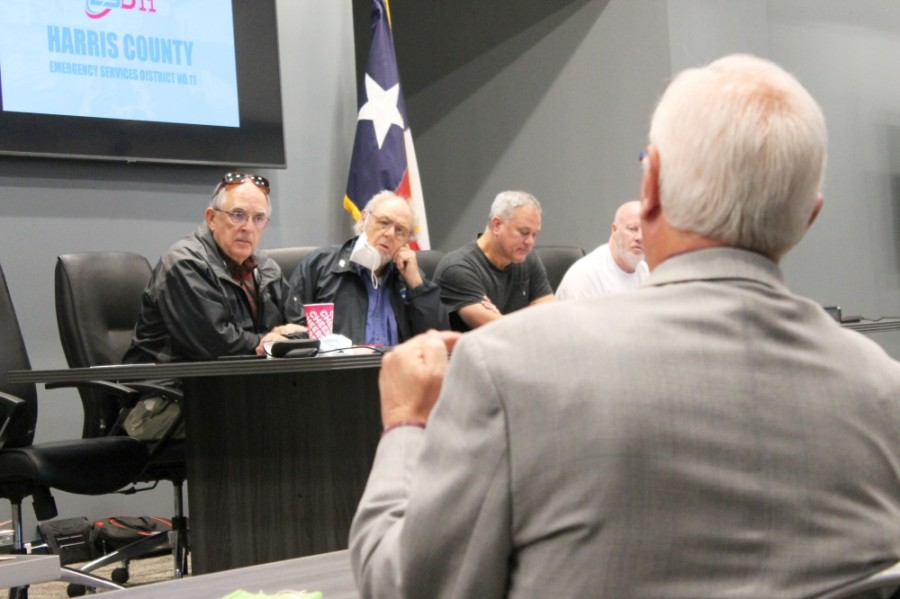 Harris County Emergency Services District No. 11 met Jan. 21 at its new administrative offices. (Andy Li/Community Impact Newspaper)