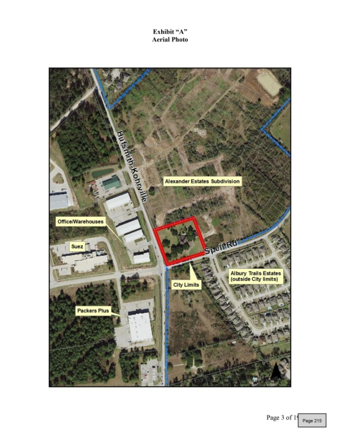 The Tomball Economic Development Corp.'s Business & Technology Park and residential communities Albury Trails and Alexander Estates—which is currently under construction—are near the property. (Courtesy city of Tomball)