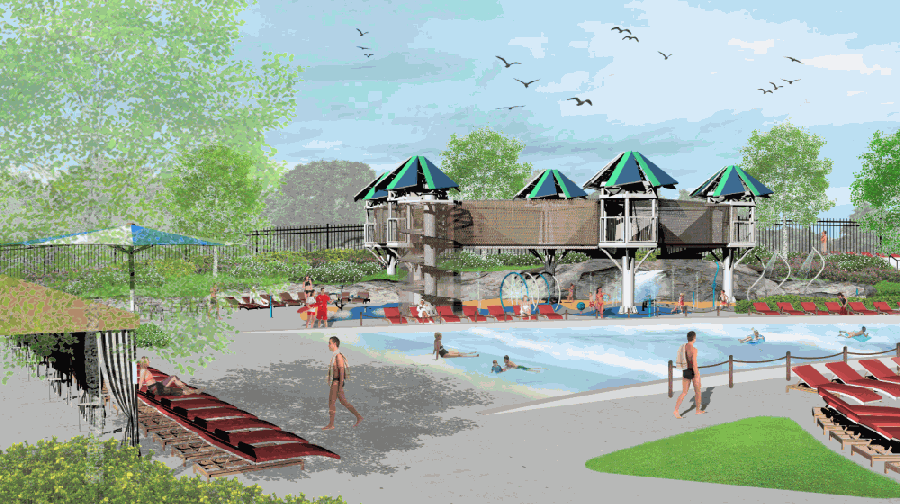 The pool is expected to open during Memorial Day weekend in 2022. (Rendering courtesy city of Plano)