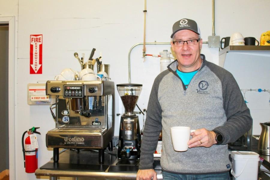 Steve Chriswell opened Vertere Coffee Roasters in 2013 in Porter. (Andy Li/Community Impact Newspaper)